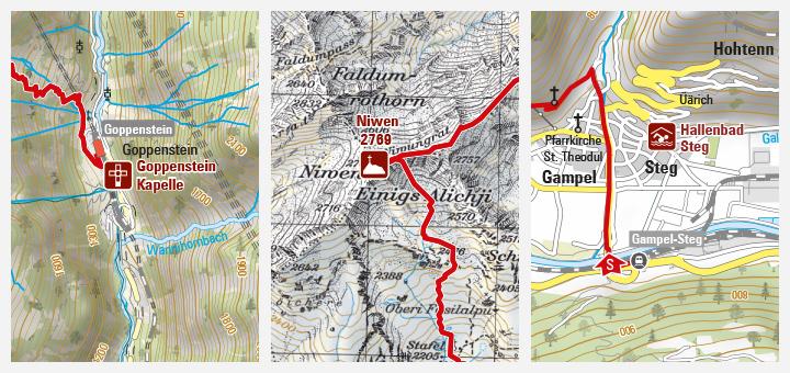 Schweiz: Touristische Produkte brauchen gute Kartografie