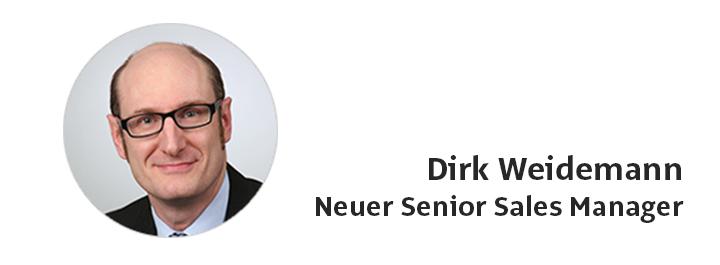 Dirk Weidemann ist neuer Senior Sales Manager