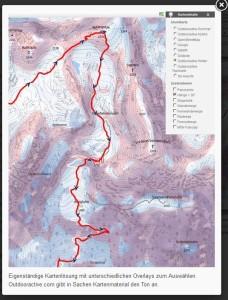 Das skitour-magazin.de lobt unsere Karte