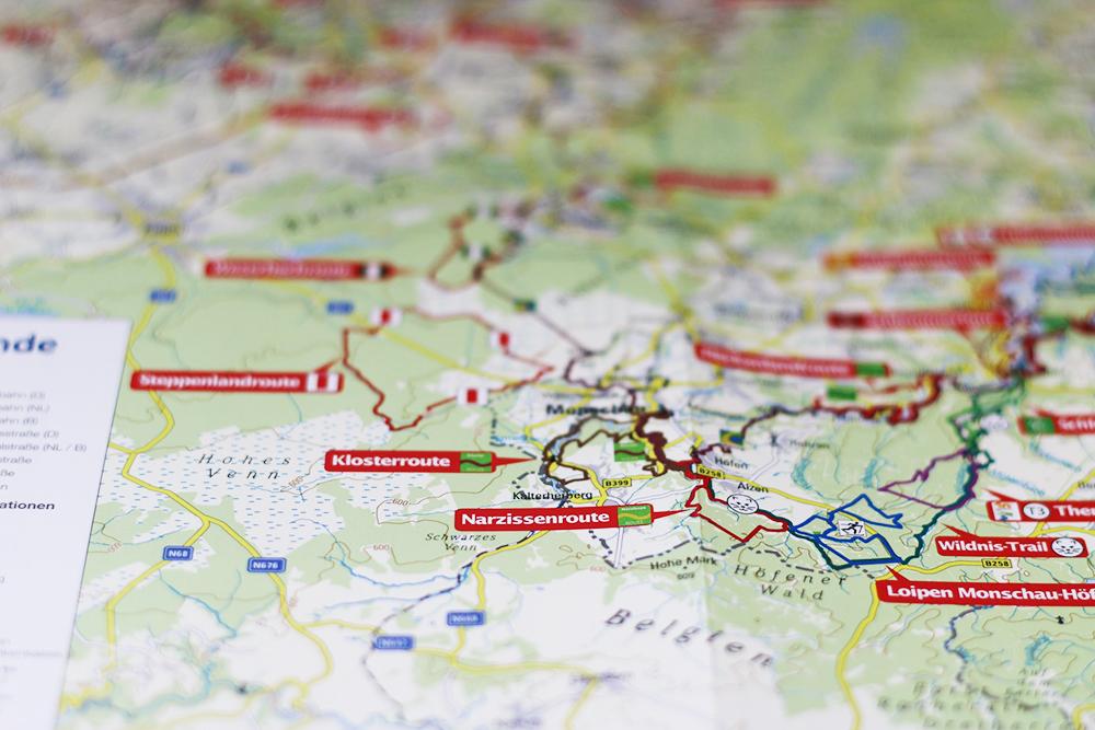 Tourenübersicht in der Karte