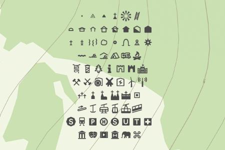 topographischen Einzelzeichen